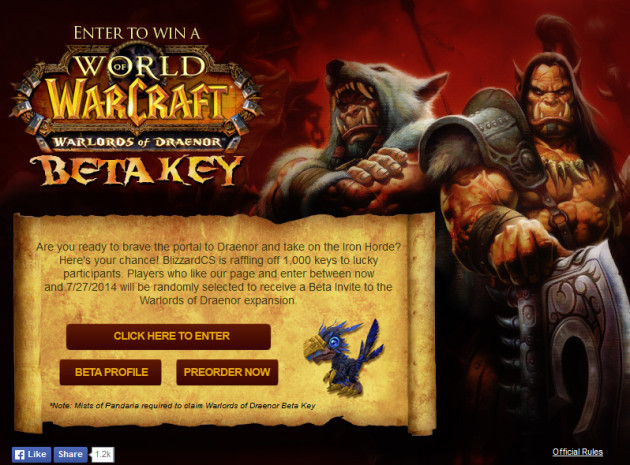 blizzard-cs-warlords-of-draenor-beta-key-giveaway