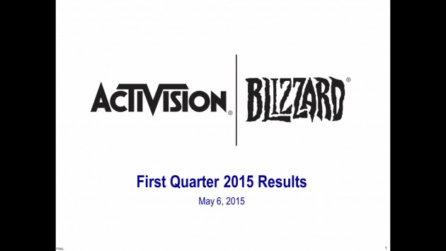 Activision Blizzard Q1 2015 Conference Call Transcript