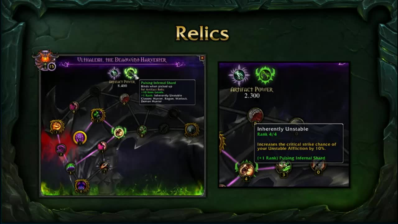 Crafted Fire Relics Legion