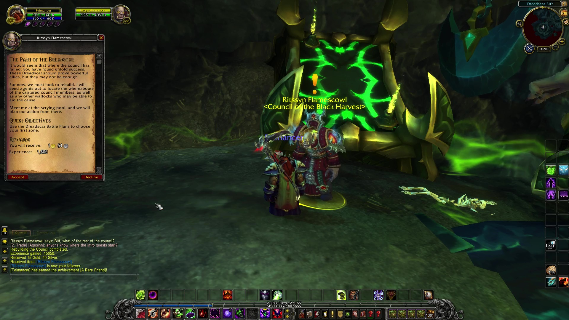 how to get to warlock class hall