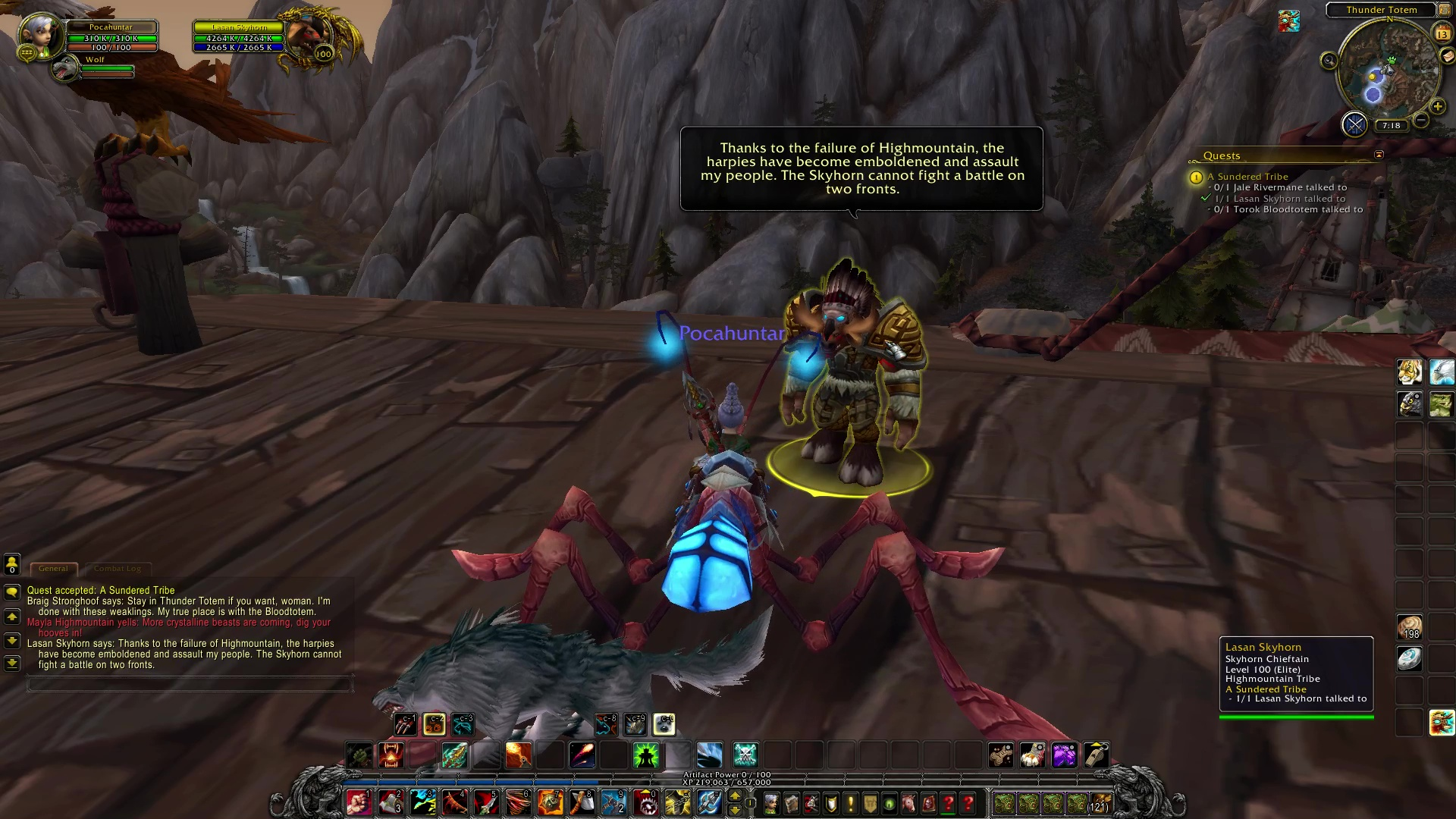 how to get rep with highmountain tribe