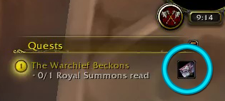The Warchief Beckons