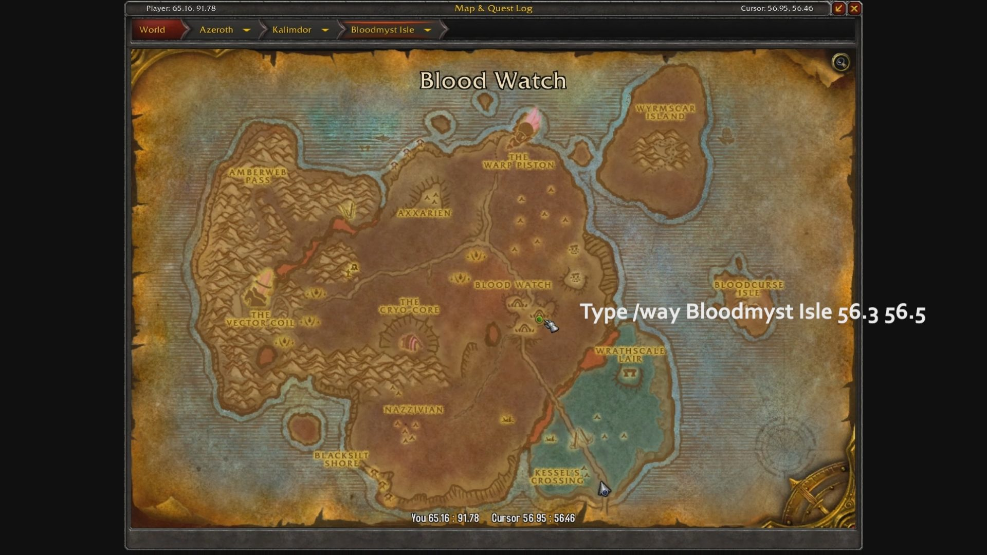 WoW Battle of Azeroth- How To Get to Azuremyst Isle as ...