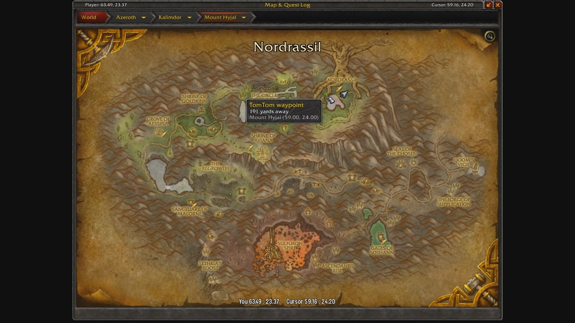 how to get to hyjal summit from orgrimmar