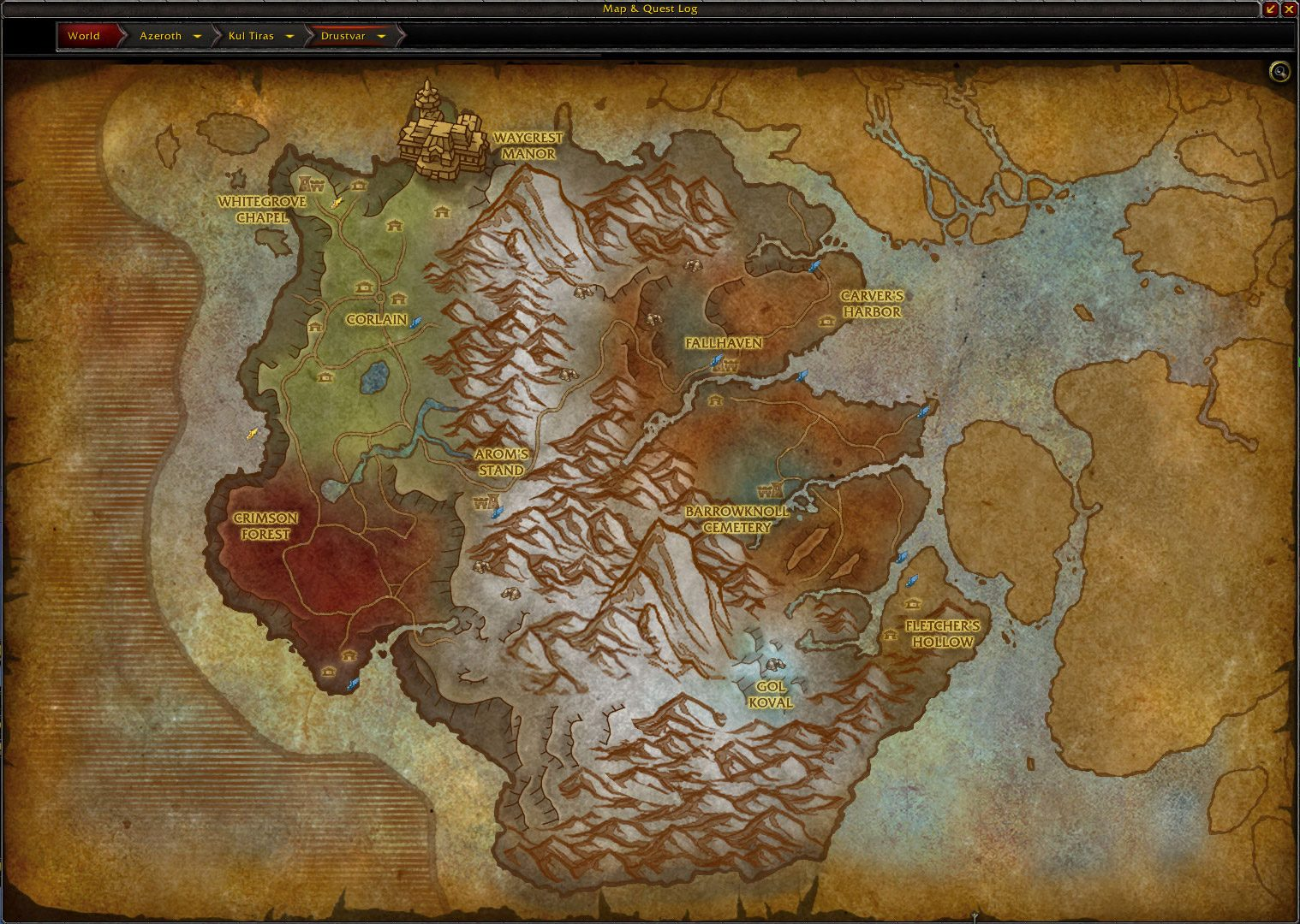 drustvar map