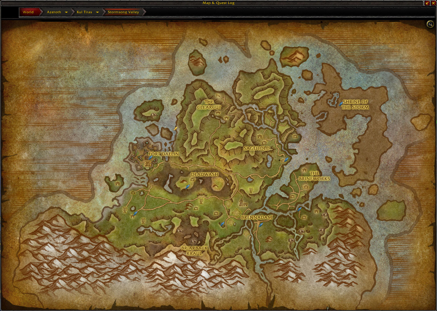 Battle for Azeroth Maps - Blizzplanet | Warcraft
