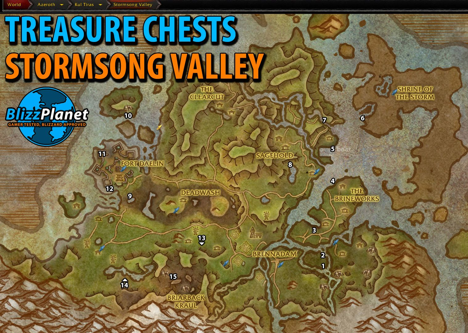 Treasure Chest Maps - Battle for Azeroth - Blizzplanet | Warcraft
