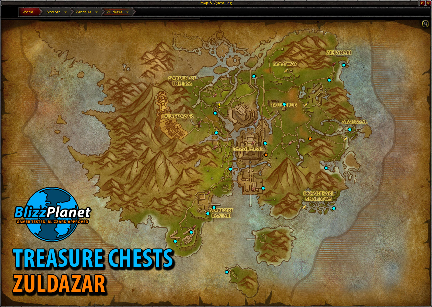 Treasure Chest Maps - Battle for Azeroth - Blizzplanet