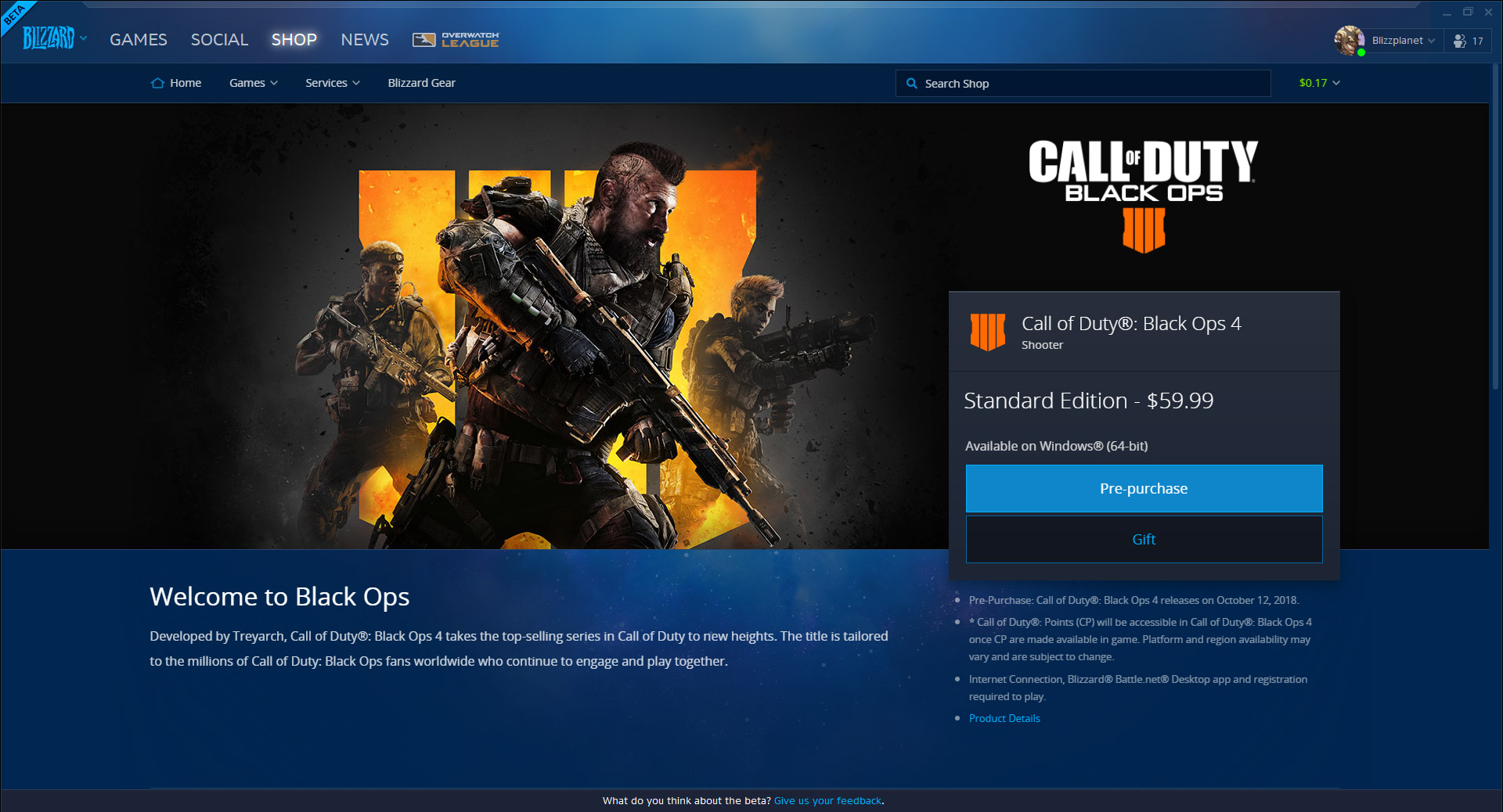 Call of Duty: Black Ops 4 coming to Blizzard Battle net Launcher