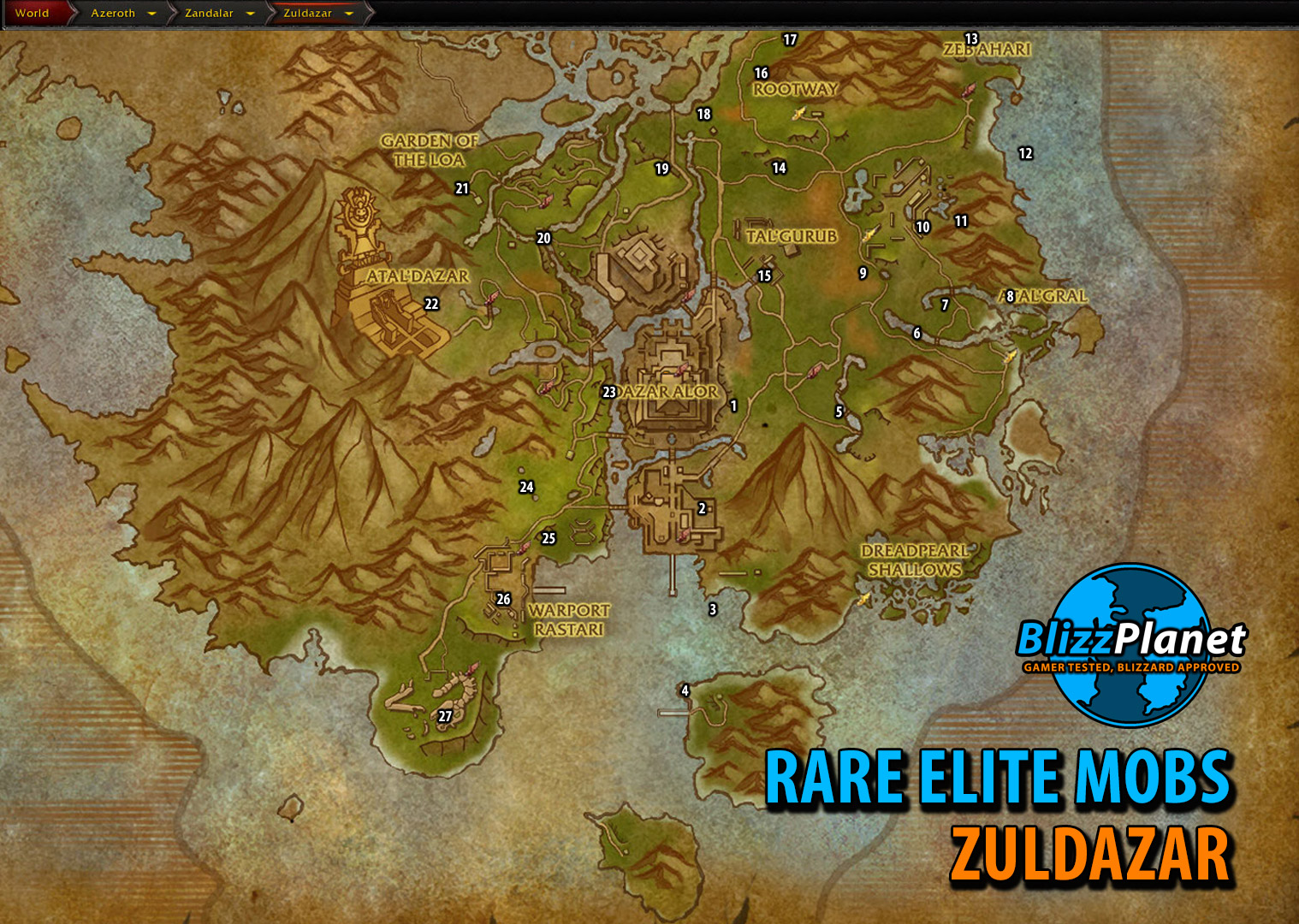 Rare Elite Maps | World of Warcraft: Battle for Azeroth