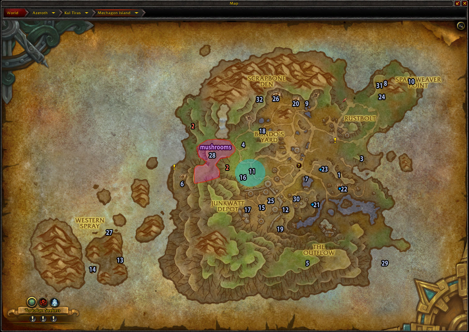 8.2 Mechagon Rare Elites Map