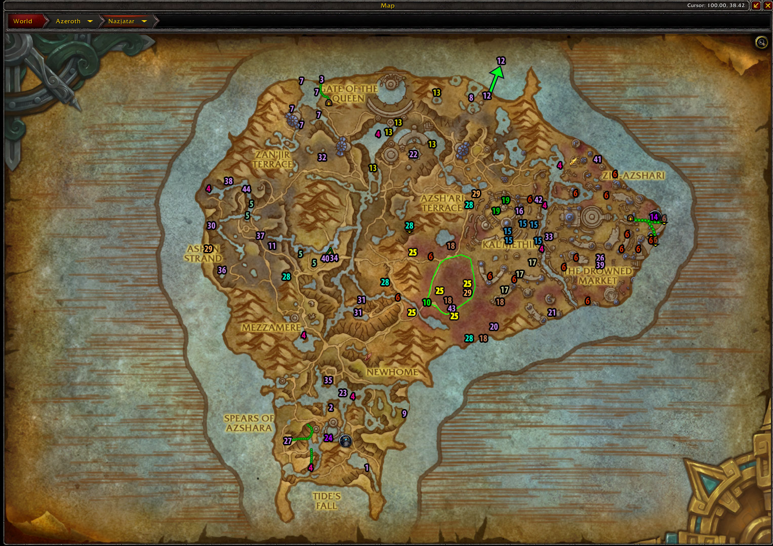 8.2 Nazjatar Rare Elites Map