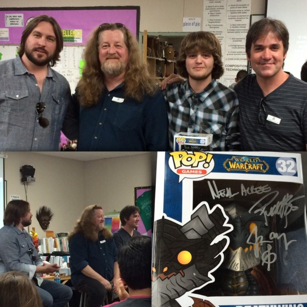 Blizzard Music Composers Visited Mission Vista High School