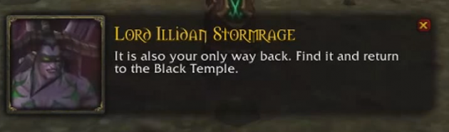 Lord Illidan text