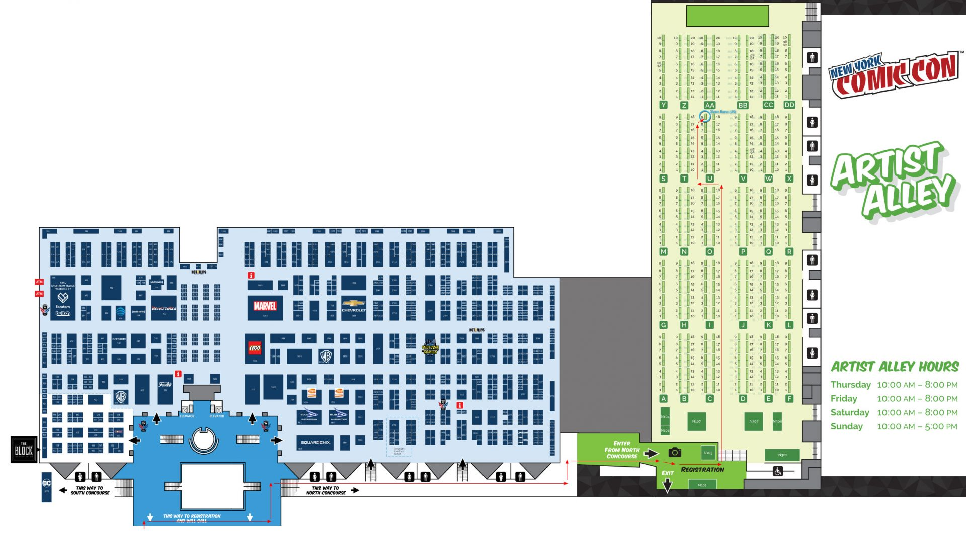 new-york-comic-con-javits-center-glenn-rane-map