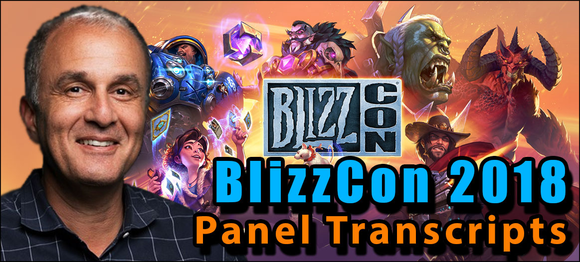 BlizzCon 2018 panel transcripts
