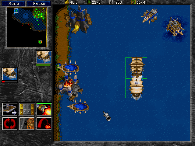 In Warcraft II to secure victory you'll need to sail the high seas...