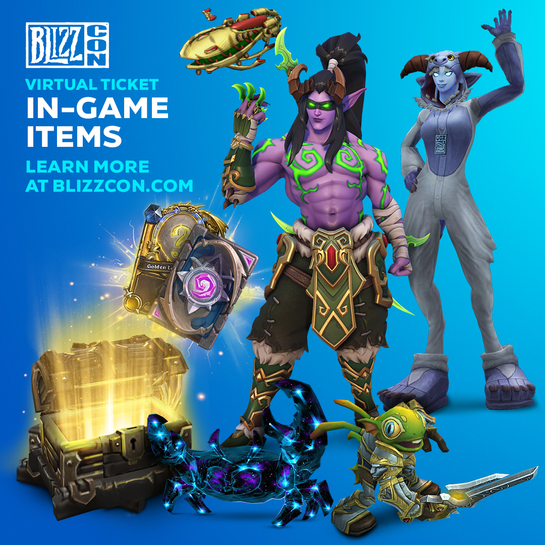 BlizzCon 2019 Virtual Ticket goodies
